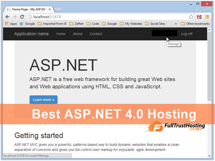 Best ASP.NET 4.0 Hosting