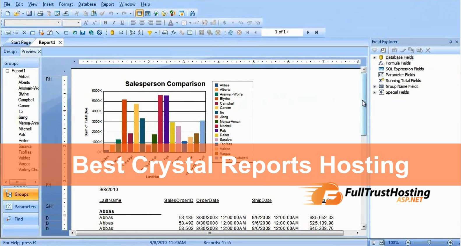 Best Crystal Reports Hosting