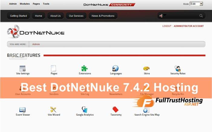 Best DotNetNuke 7.4.2 Hosting