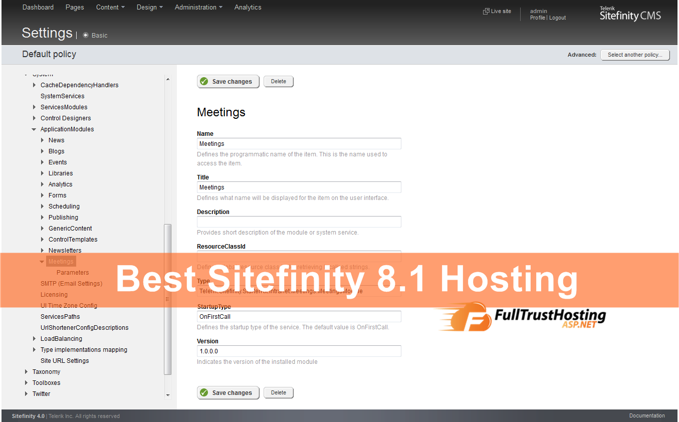 Best Sitefinity 8.1 Hosting
