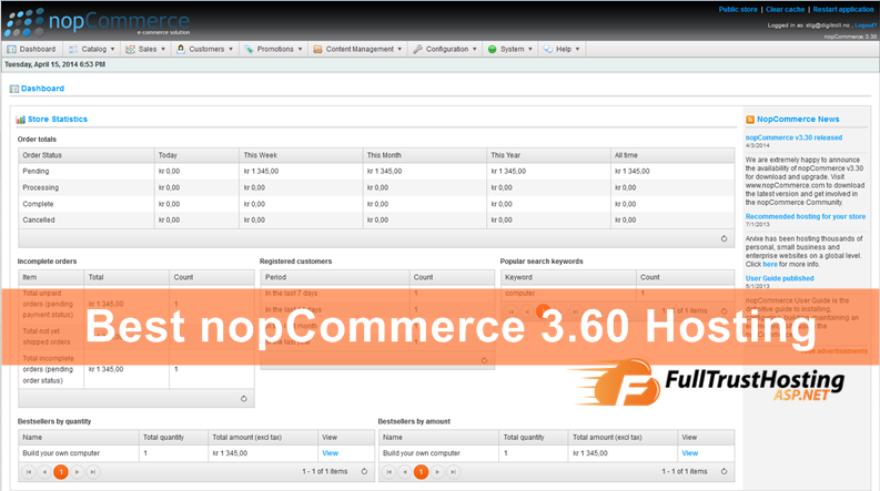 Best nopCommerce 3.60 Hosting