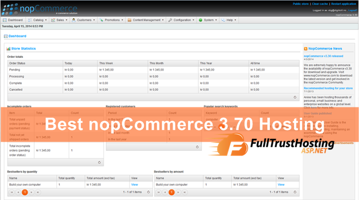 Best nopCommerce 3.70 Hosting