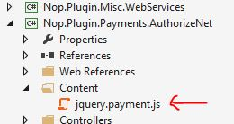 Costum Credit Card in nopCommerce with JQuery 1