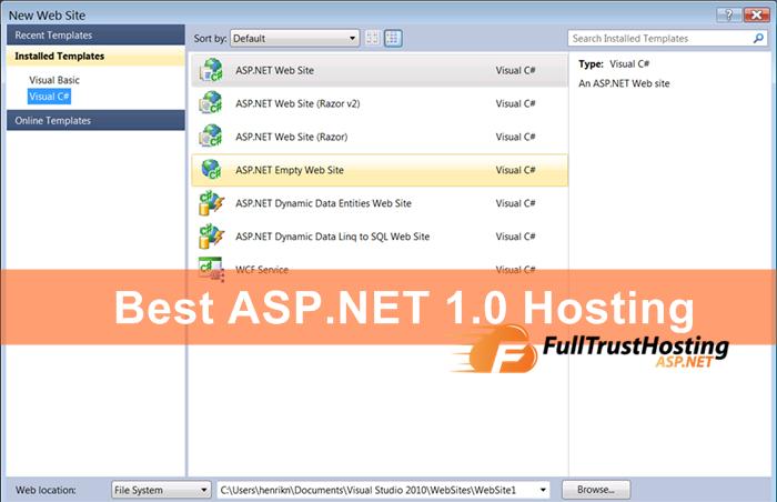 Best ASP.NET 1.0 Hosting