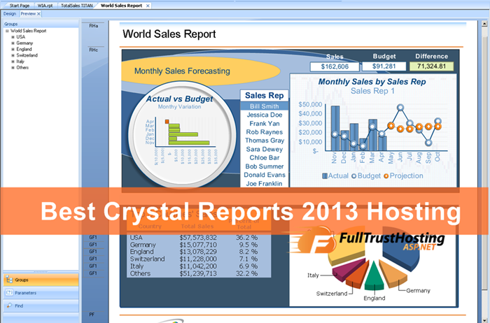 Best Crystal Reports 2013 Hosting