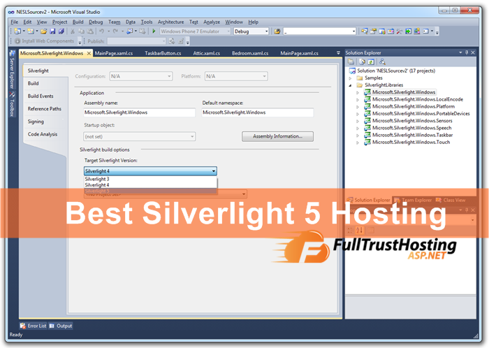 Best Silverlight 5 Hosting