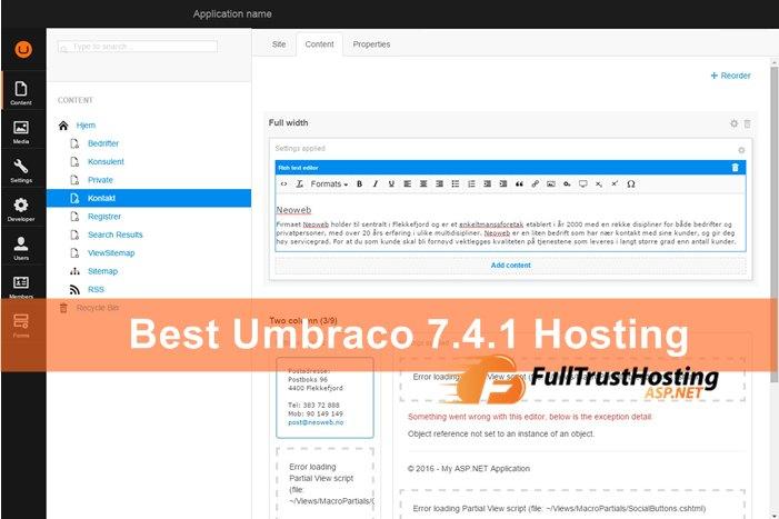 Best Umbraco 7.4.1 Hosting Providers