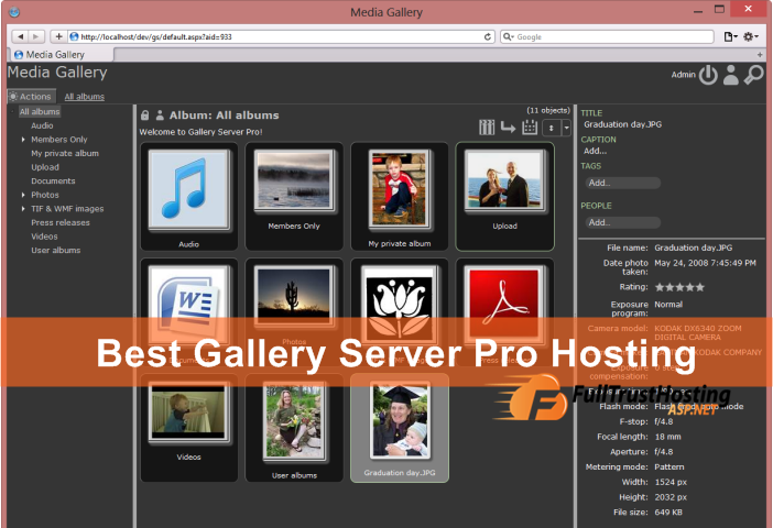 Best and Reliable Gallery Server Pro Hosting