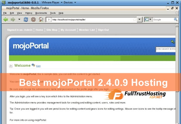 Best mojoPortal 2.4.0.9 Hosting