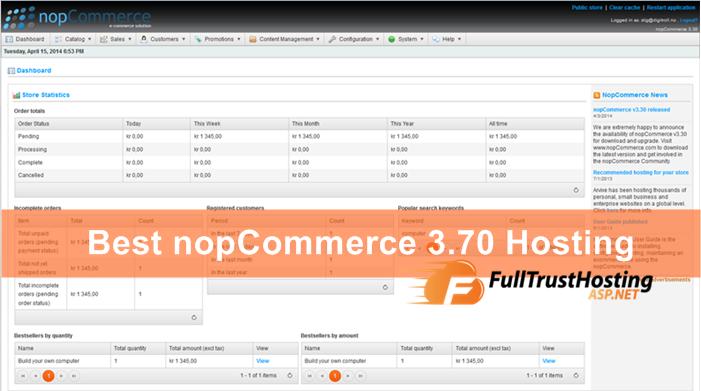 Best nopCommerce 3.70 Hosting