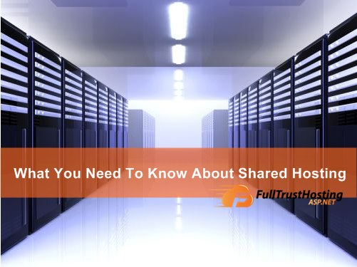 What You Need to Know About Shared Hosting